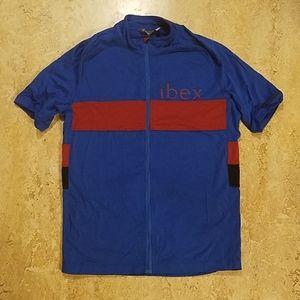 Ibex wool cycling jersey